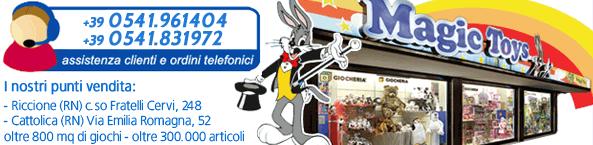 Negozi giocattoli per bambini a Riccione e Cattolica