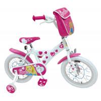"""Bicicletta Barbie 16"""" bianca"""