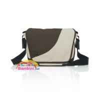 Borsa fasciatoio fashion sand-dark brown