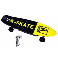 Skateboard Rider Electric giallo