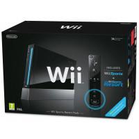 Wii Console Black + Telecomando Plus